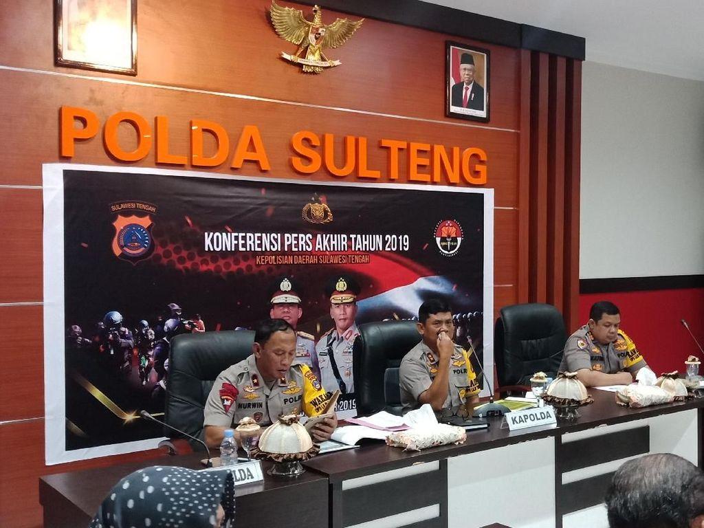 Polda Sulteng Tangani 456 Kasus Narkoba Tahun Ini, Turun Dibanding 2018