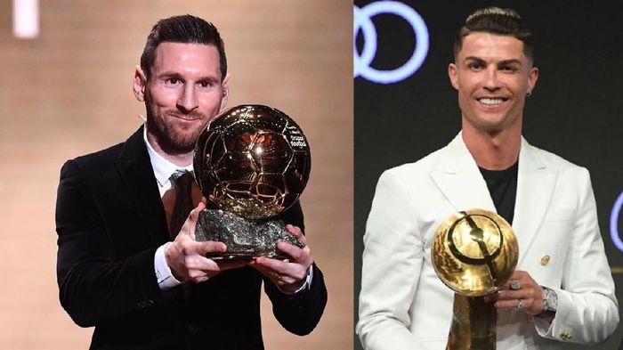 Adu tajam antara Cristiano Ronaldo vs Lionel Messi dalam sedekade ini dimenangi oleh La Pulga (Foto: 20detik)