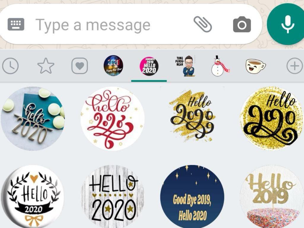 Cara Munculkan Stiker Ucapan Tahun Baru di WhatsApp