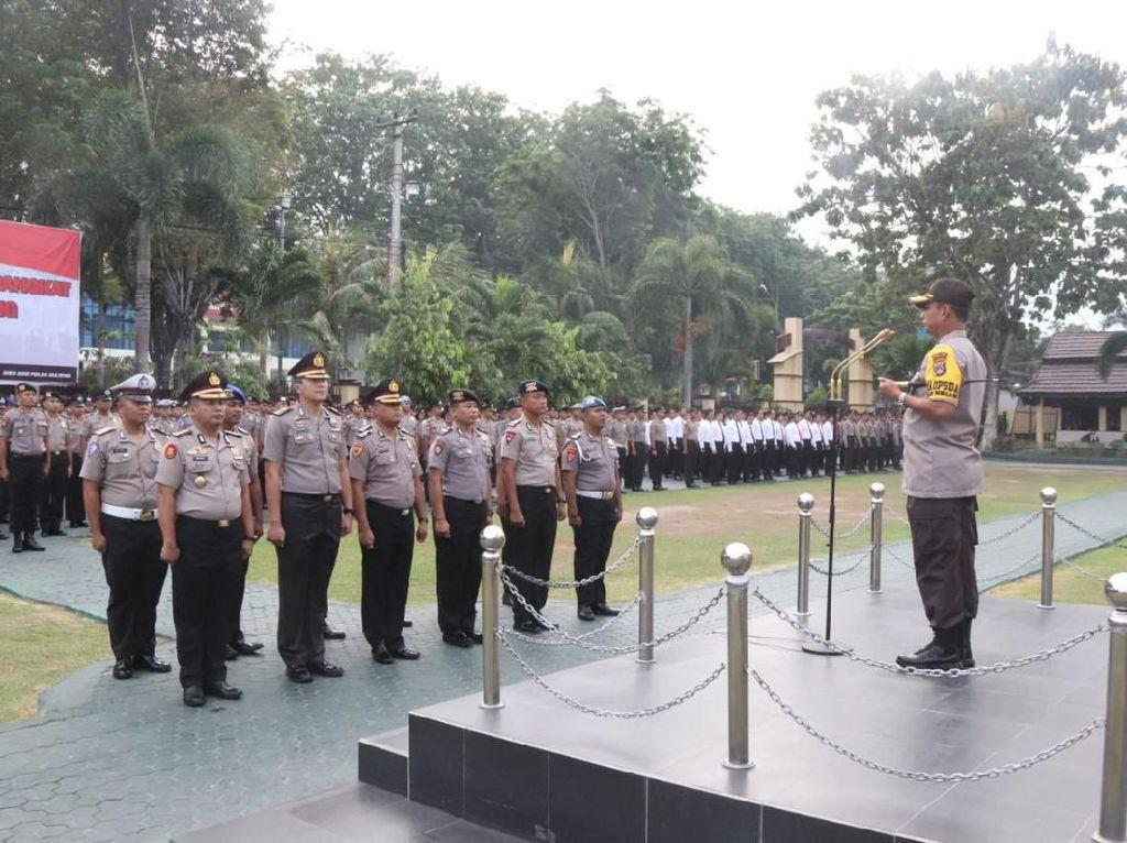 Jelang Pengamanan Malam Tahun Baru, 1.403 Polisi di Sulteng Naik Pangkat