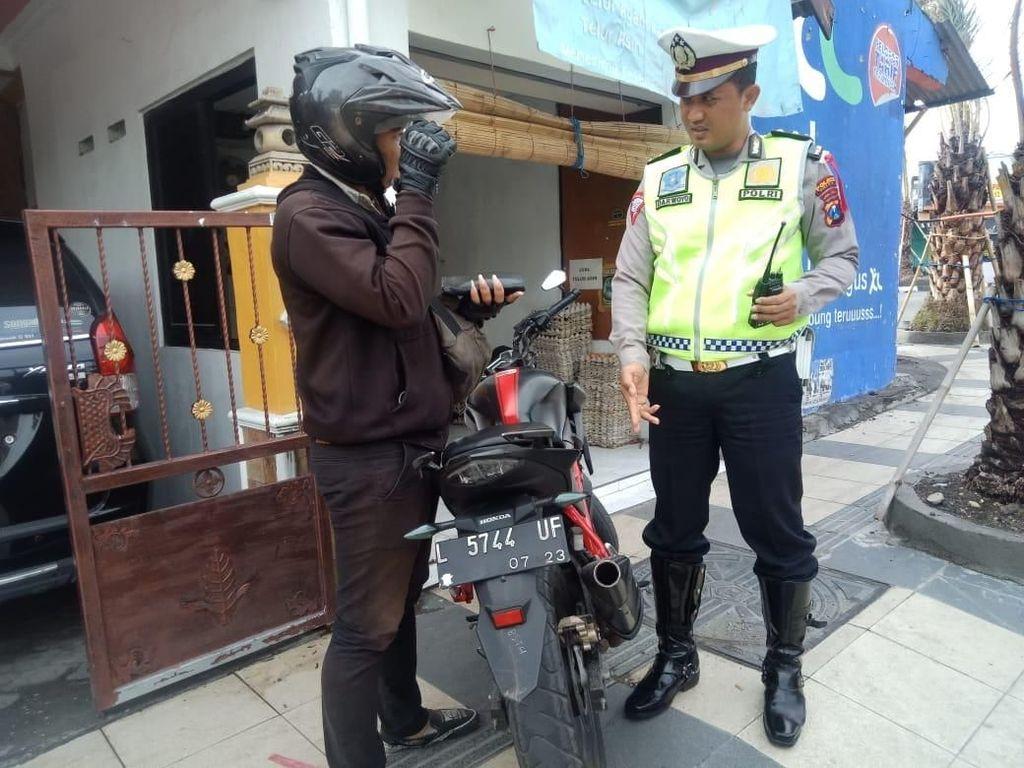 Jelang Malam Tahun Baru, Polisi Gresik Amankan Puluhan Knalpot Brong
