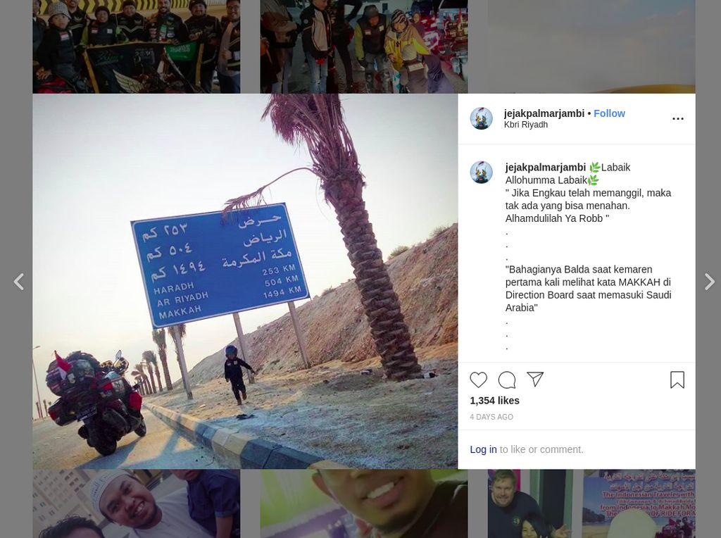 Touring ke Mekkah Bawa Balita, Ini Persiapan Rider asal Jambi