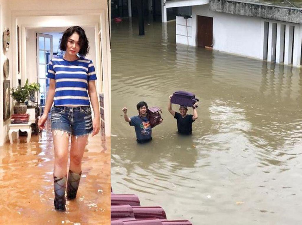 Yuni Shara hingga Audy Item Jadi Korban Banjir di Tahun Baru 2020