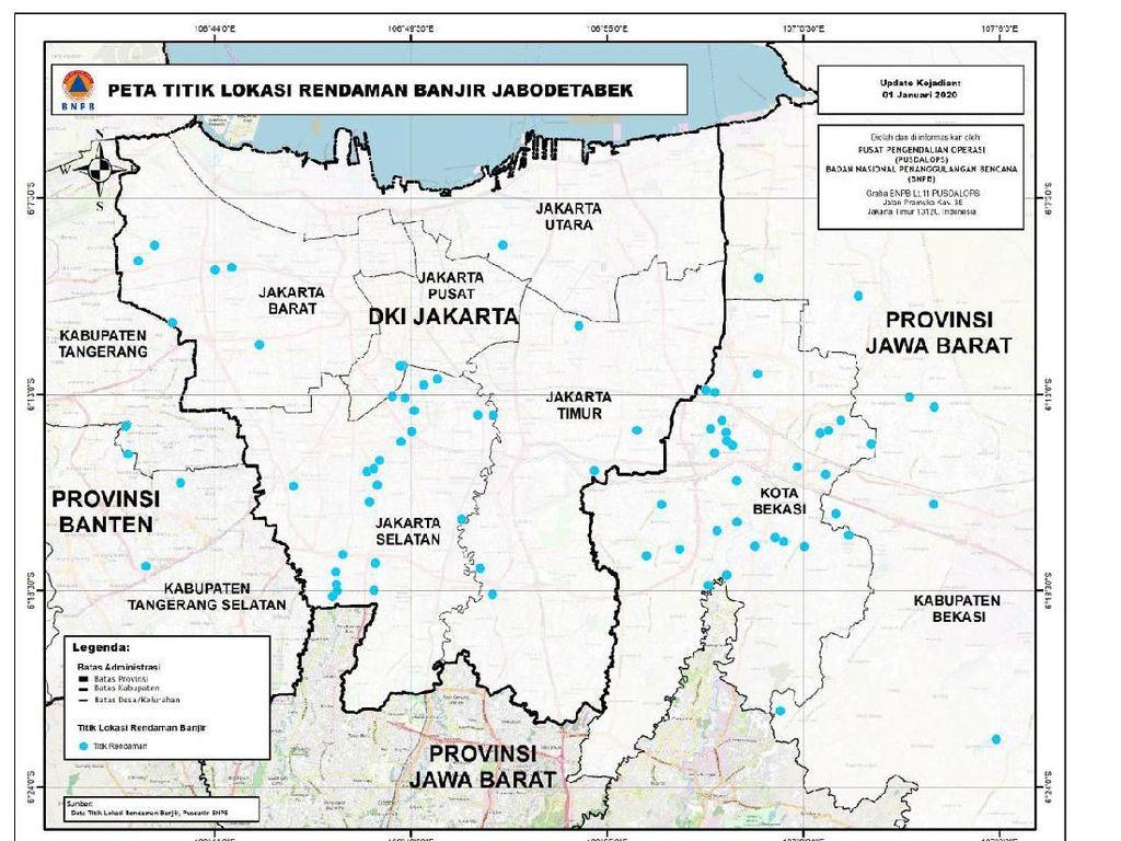 Ini Sebaran Lokasi Banjir di Jabodetabek