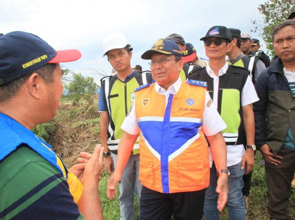 Pantau Lokasi Banjir di Cipali, Kemenhub Minta Dibangun Tanggul