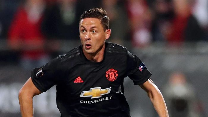 ALKMAAR, NETHERLANDS - OCTOBER 03: Nemanja Matic of Manchester United in action during the UEFA Europa League group L match between AZ Alkmaar and Manchester United at AFAS-Stadium on October 03, 2019 in Alkmaar, Netherlands. (Photo by Naomi Baker/Getty Images)