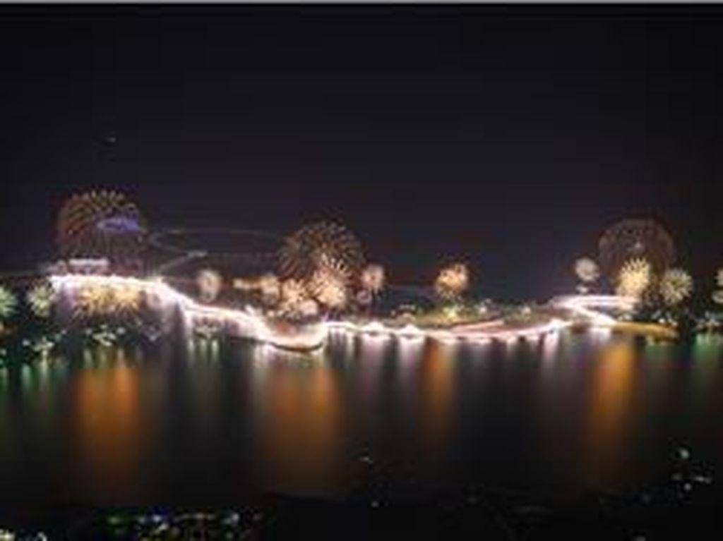 Kembang Api Tahun Baru Uni Emirat Arab Ukir Dua Rekor Dunia