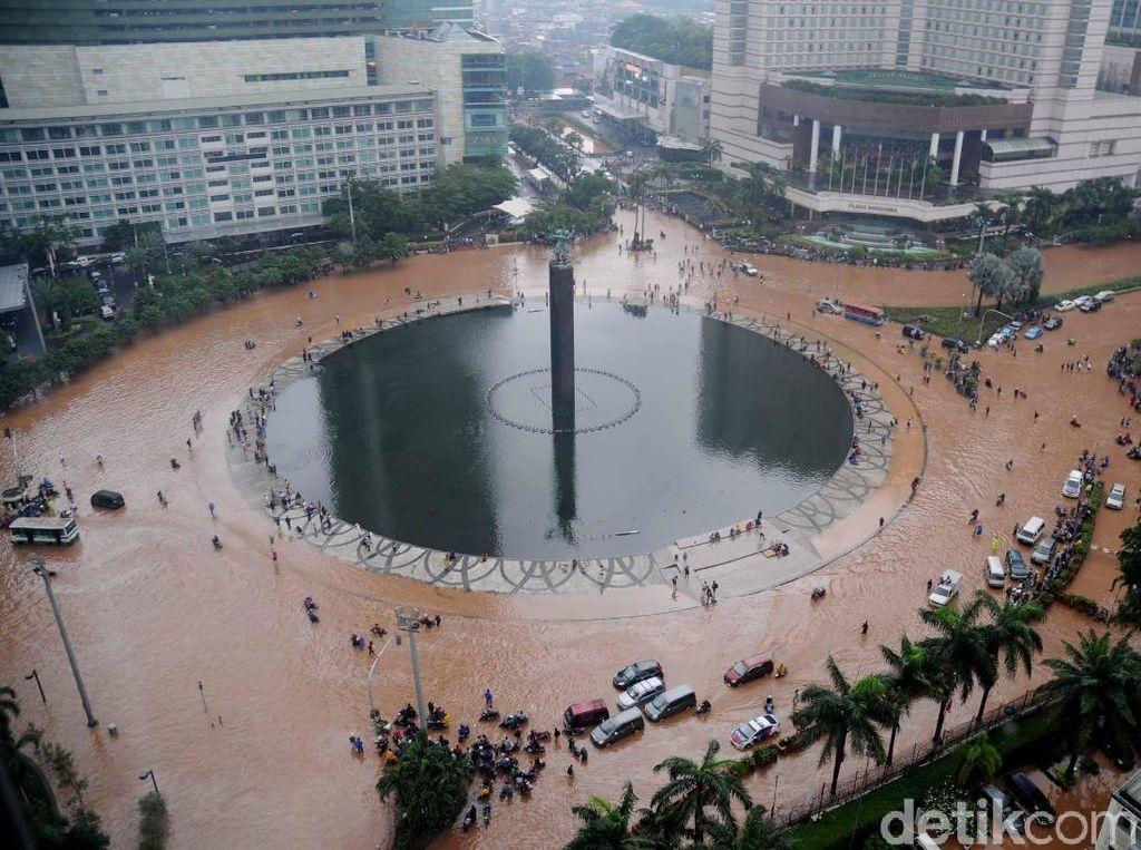 Begini Data Banjir Era Jokowi-Ahok-Djarot-Anies