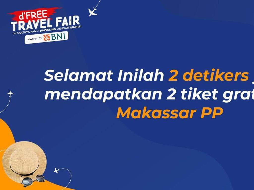 Siapa Dapat Tiket Pesawat Gratis ke Makassar? Buruan Cek!