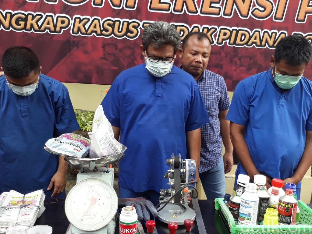 Polisi Ringkus 3 Tersangka Pestisida Palsu, 1 Perawat Puskesmas