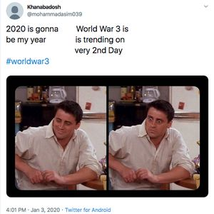 Aneka Meme Reaksi World War 3 AS VS Iran di Twitter