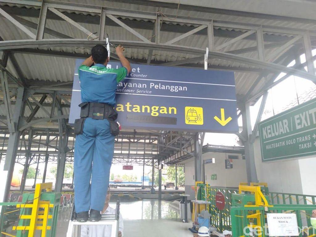 Petunjuk Salah Kedatangan, Departure di Stasiun Solo Terpasang 1,5 Bulan