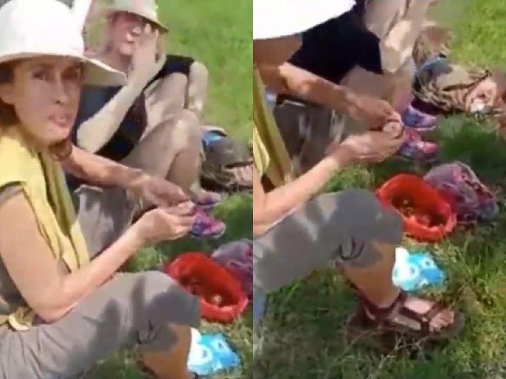 Inspiratif! Turis Jerman Ini Bersihkan Sampah Bekas Makanannya Saat Berlibur di Yogyakarta
