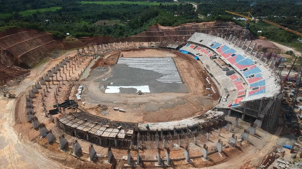 Penampakan Terkini Pembangunan Stadion Utama Sumbar