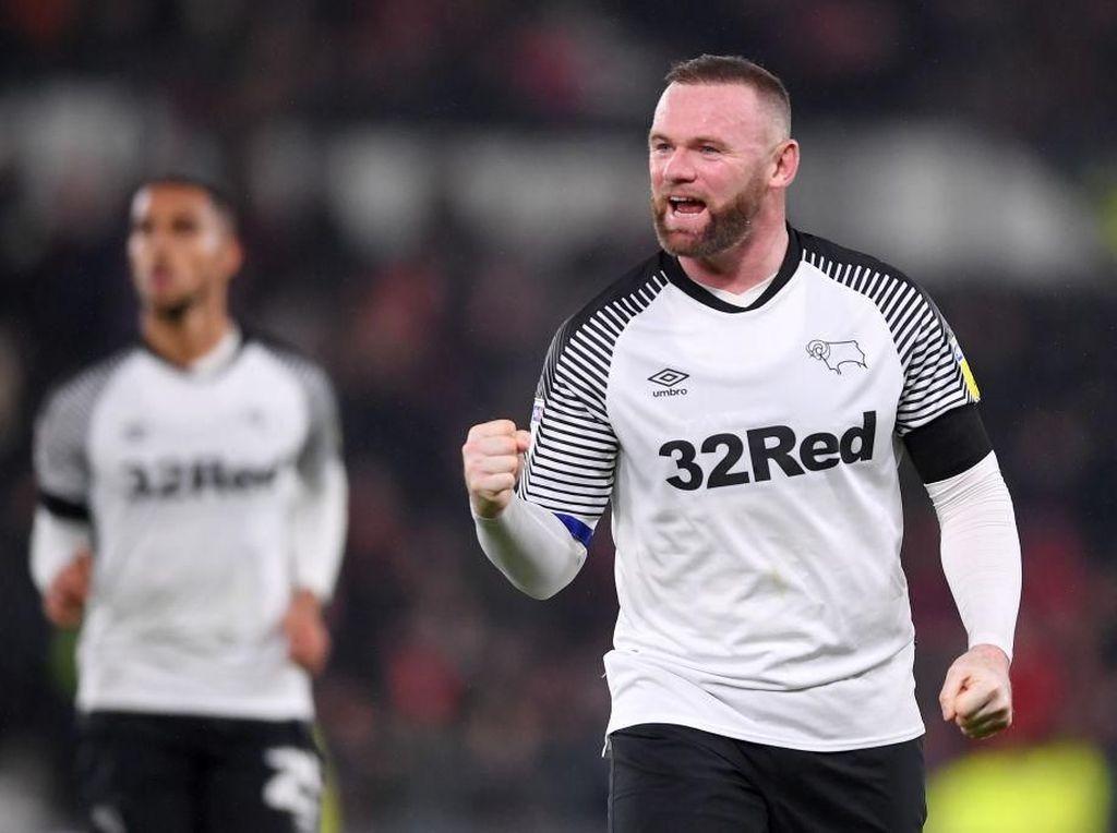 Rooney Jalani Debut Gemilang bersama Derby County