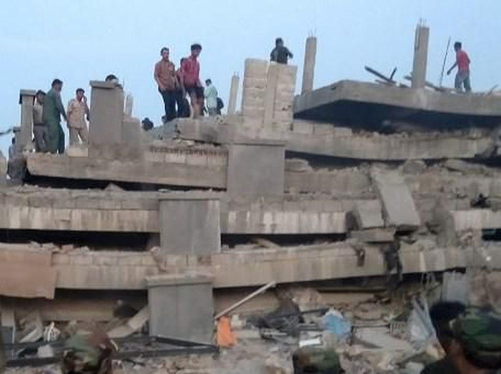 Bangunan 7 Lantai di Kamboja Roboh: 4 Orang Tewas, 16 Terluka