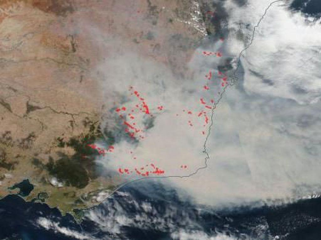 Satelit NASA Perlihatkan Dampak Kebakaran Australia