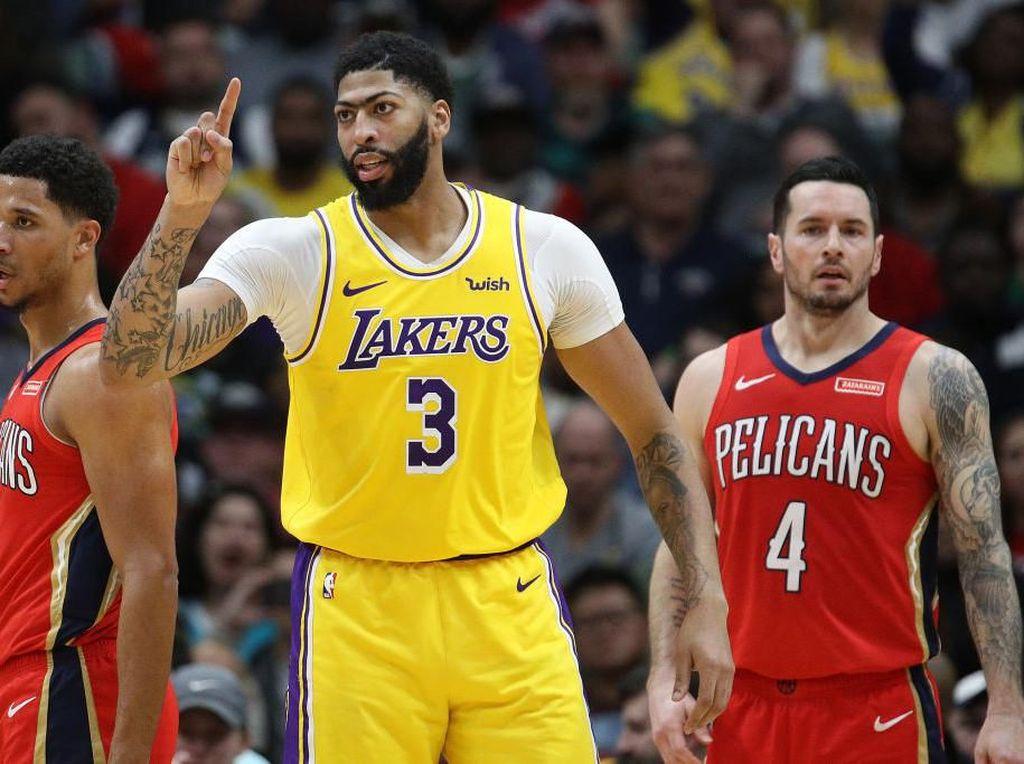Hasil NBA: Davis Cetak 46 Poin, Lakers Tundukkan Pelicans