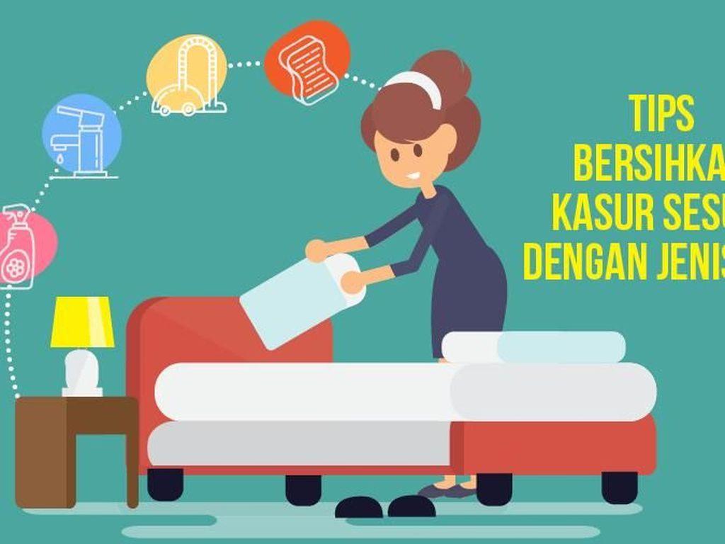 Tips Bersihkan Kasur yang Terendam Air Banjir