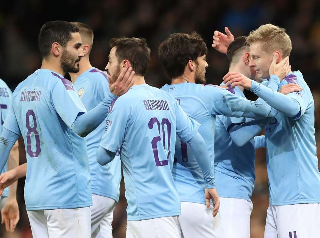 Hasil Piala FA: Man City Hajar Port Vale 4-1