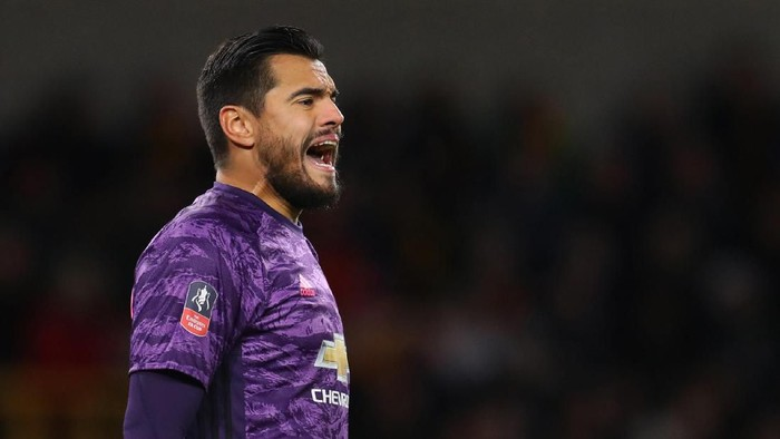 WOLVERHAMPTON, ENGLAND - JANUARY 04: Sergio Romero of Manchester United during the FA Cup Third Round match between Wolverhampton Wanderers and Manchester United at Molineux on January 04, 2020 in Wolverhampton, England. (Photo by Catherine Ivill/Getty Images)