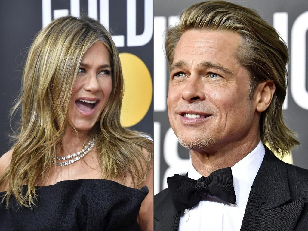 Ciee... Menang Oscar, Brad Pitt Diberi Selamat Jennifer Aniston