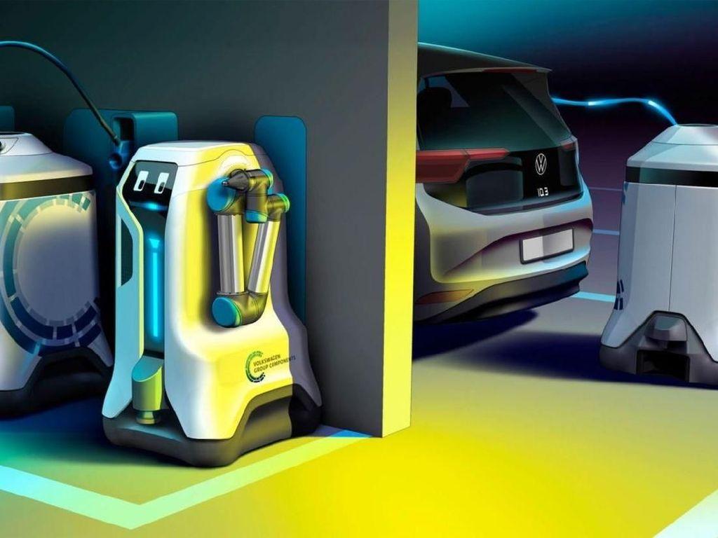 VW Ingin Mobil Listrik Dicas Pakai Robot yang Bisa Keliling