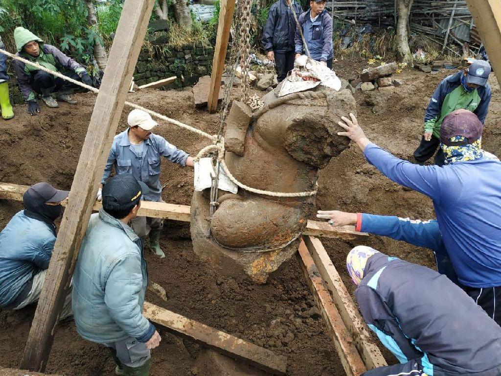Arca Ganesha Terbesar di Dieng Kini Disimpan di Museum Kailasa