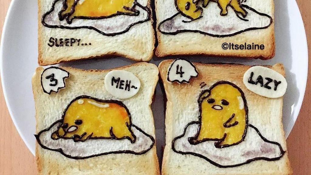 Sayang Dimakan! 10 Kreasi Roti Tawar Gambar Shin-chan hingga Snoopy