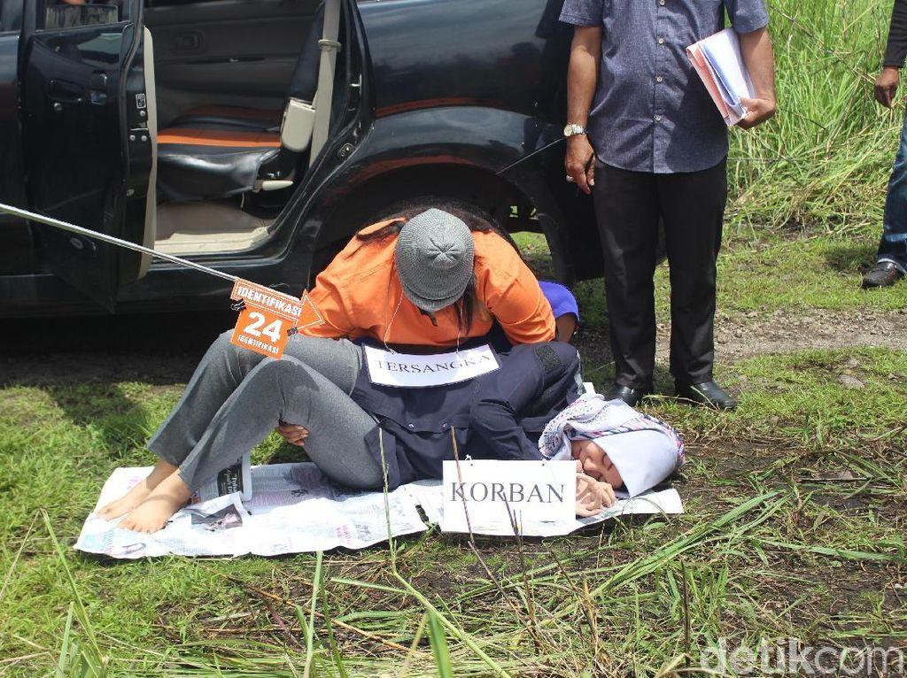 Kasus Pembunuhan Mahasiswi Akper Direkonstruksi, 26 Adegan Diperagakan