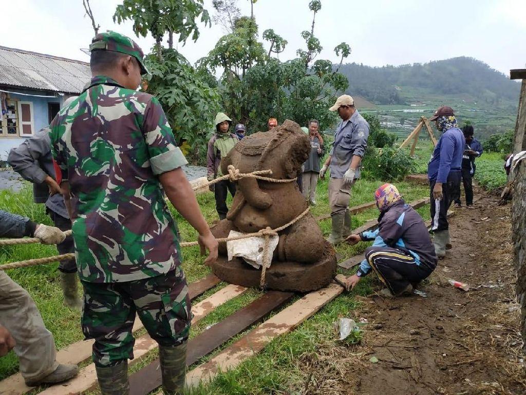 Cegah Pencurian, BPCB Gandeng Petani Amankan TKP Penemuan Arca Dieng
