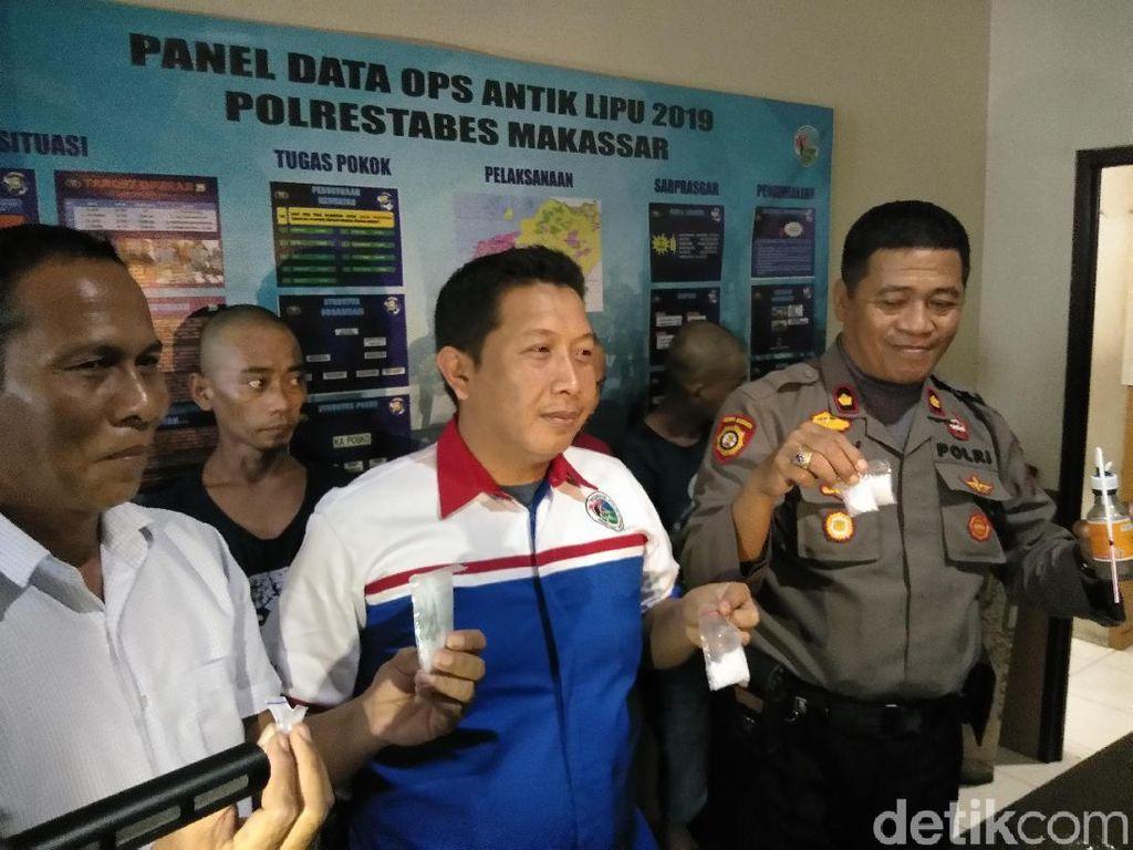 Polisi Ringkus 6 Sindikat Pengedar Sabu di Makassar