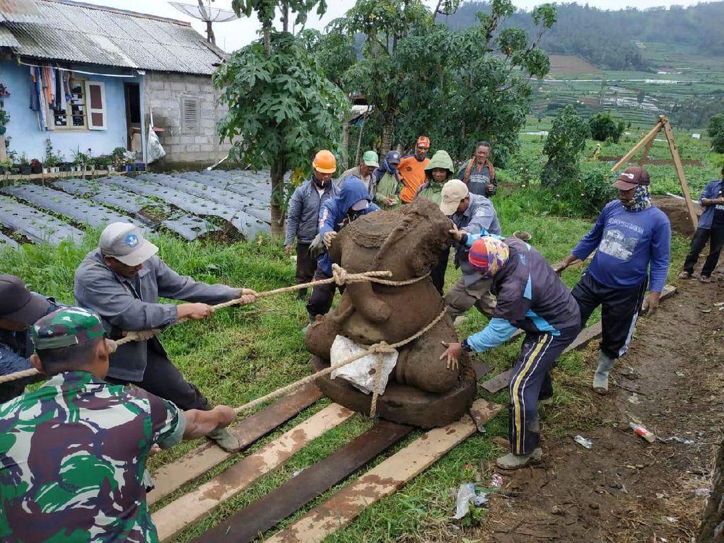 Cari Kepala Arca Ganesha, BPCB Akan Ekskavasi Lanjutan di Dieng