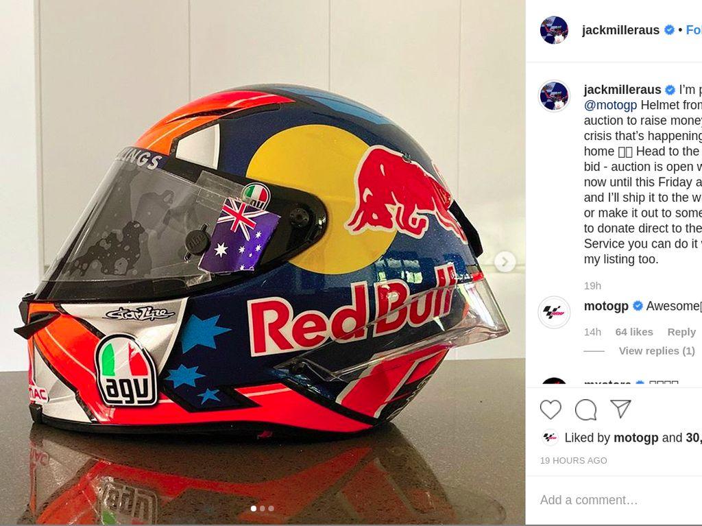 Donasi untuk Kebakaran Hutan, Pebalap MotoGP Lelang Helm