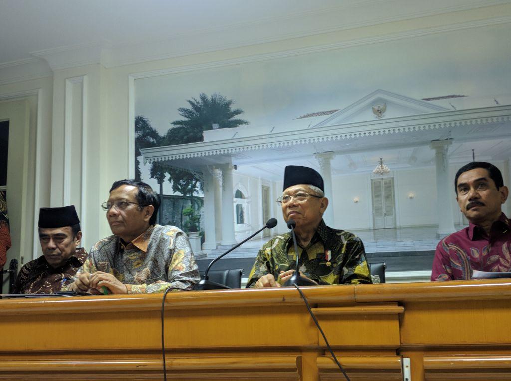Gelar Rapat Bahas Terorisme, Maruf: Kita Ingin Tanggulangi Sejak Hulu-Hilir