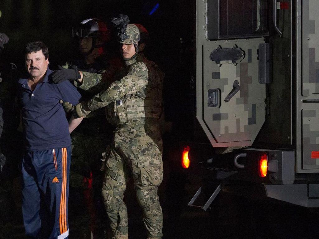 Berakhirnya Pelarian Raja Narkotika Si Pendek dari Meksiko