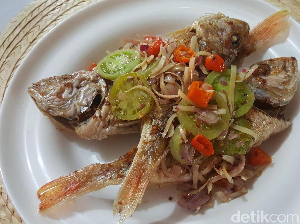 Resep Seafood : Ikan Goreng Tumis Kecombrang