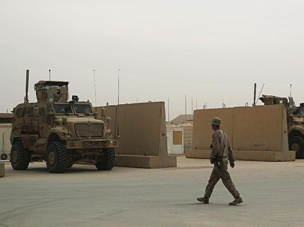 Serangan Roket Hantam Dekat Pangkalan Udara Irak Basis Pasukan AS