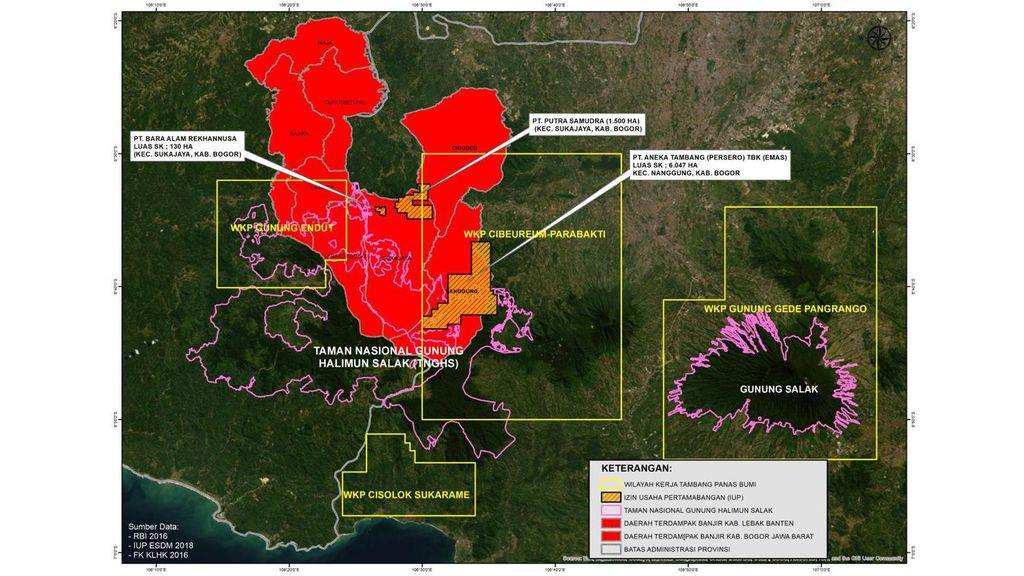 Jaringan Advokasi Tambang (JATAM) meminta Presiden Joko Widodo (Jokowi) tak menutup mata terhadap keberadaan perusahaan tambang legal yang beraktivitas di kawasan Taman Nasional Gunung Halimun Salak (TNGHS).