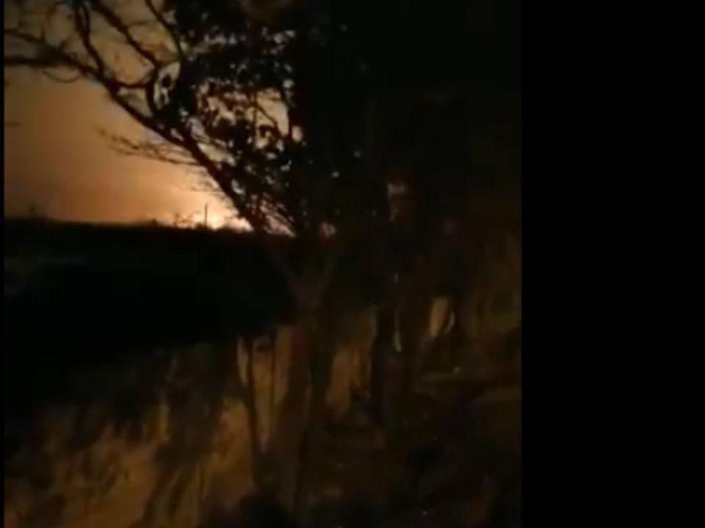 Detik-detik Pesawat Ukraina Jatuh dan Meledak di Iran