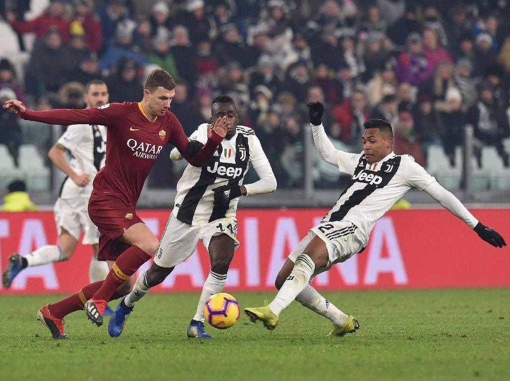 Dzeko Ingin Bobol Gawang Juventus, tapi Kemenangan Roma Lebih Penting