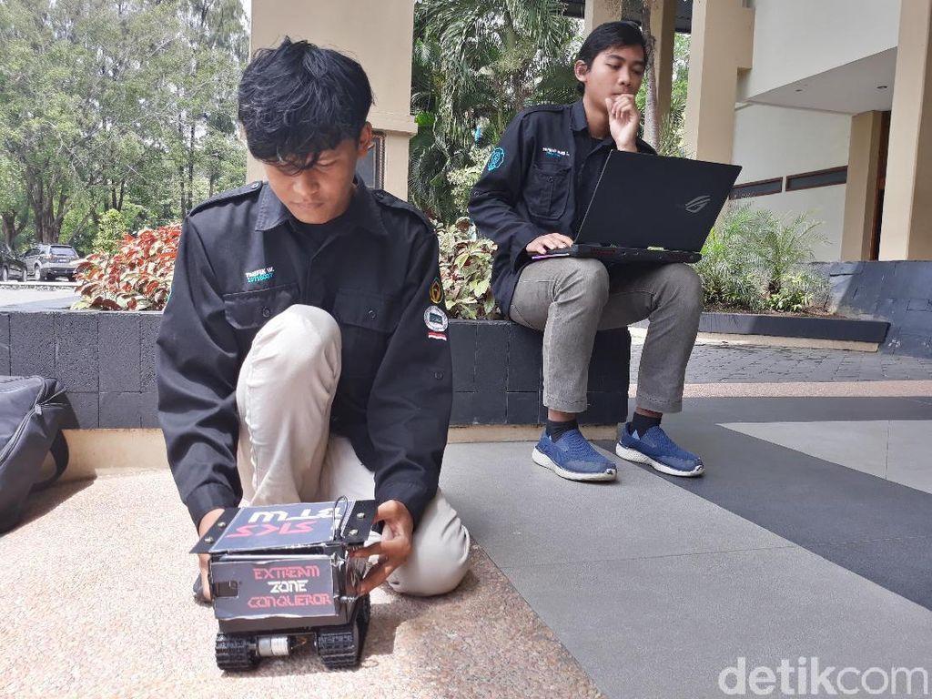 Robot Lokal Ini Cari Korban Bencana Pakai Pemindai Suhu Badan