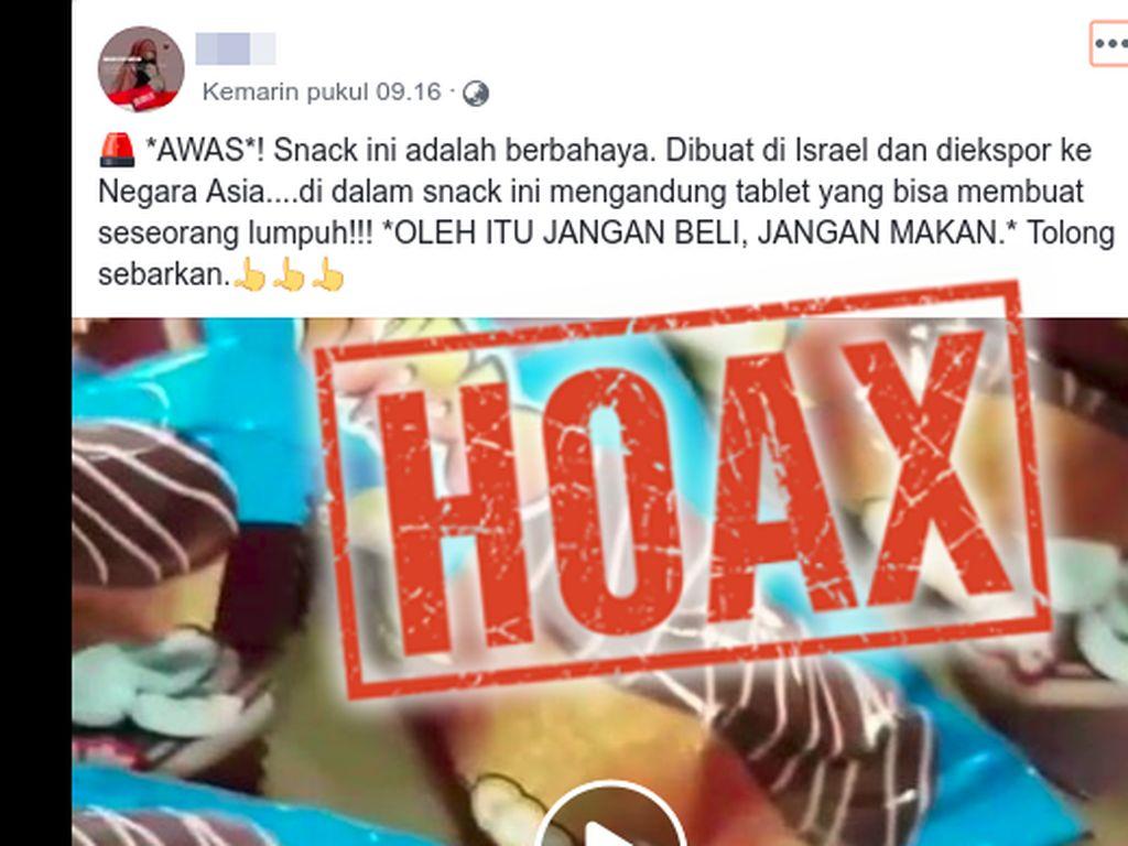 Viral Jajanan dari Israel Berisi Tablet Pembuat Lumpuh, Ini Faktanya