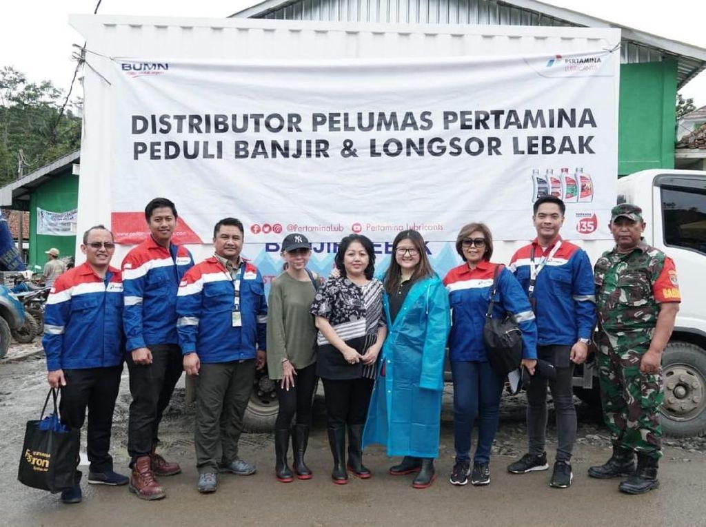 Pertamina Lubricants Beri Bantuan Logistik untuk Korban Banjir Lebak