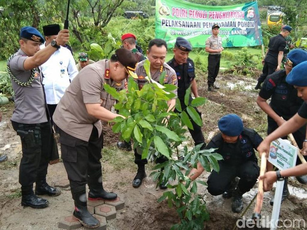 Tanam Ribuan Pohon, Kapolda Banten Janji Hukum Penambang Liar