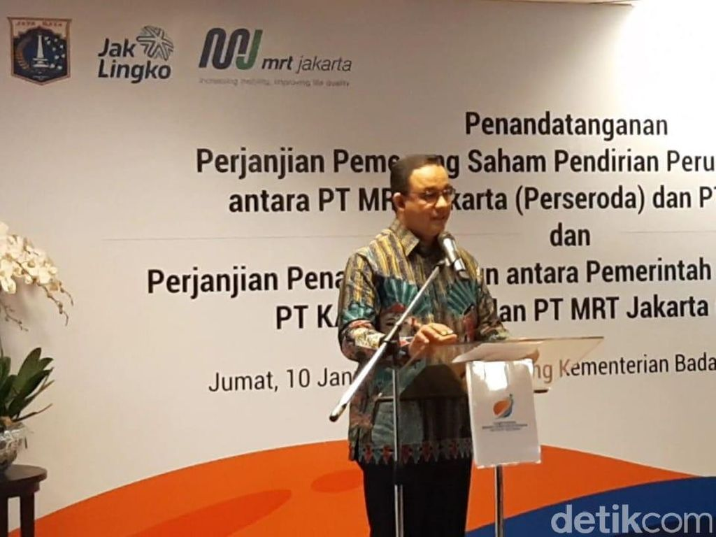 MRT-KAI Bersatu, Anies: Transportasi Jakarta Akan Jadi Kelas Dunia