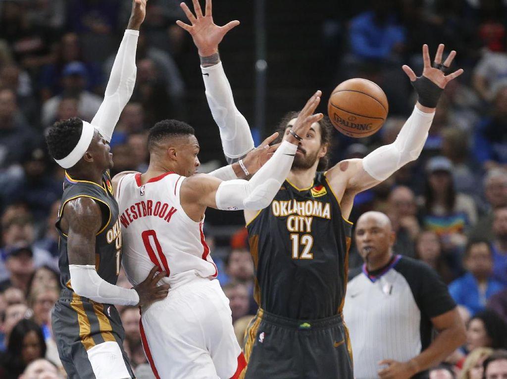 34 Poin Westbrook Tak Mampu Selamatkan Rockets dari Kekalahan