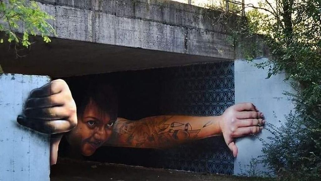 Keren! Seniman Sulap Jalanan Jadi Kanvas Seni 3 Dimensi