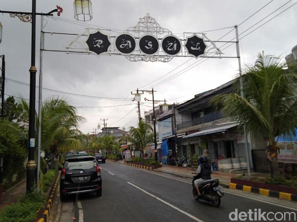 Gapura Hias Nuansa Islami Percantik Jalanan di Cianjur
