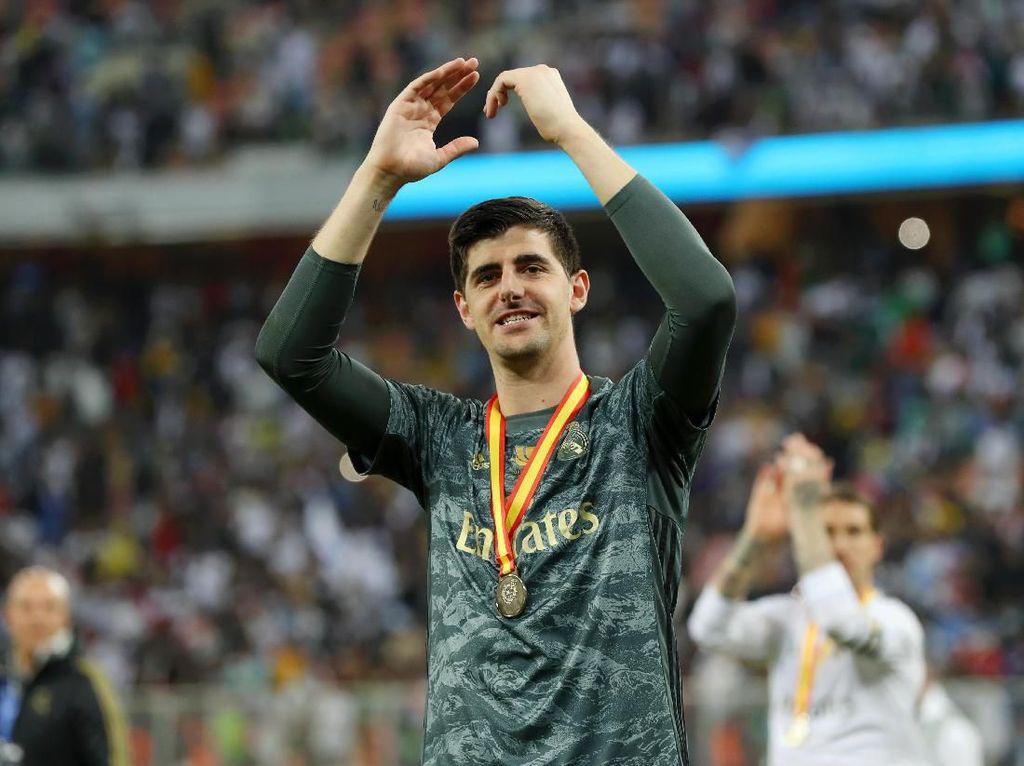 Trik Courtois Jadi Pahlawan Adu Penalti Real Madrid